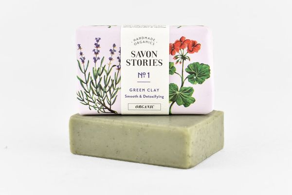 French Green Clay Bar Soap  kylmäsaippuoitu raakasaippua 110g