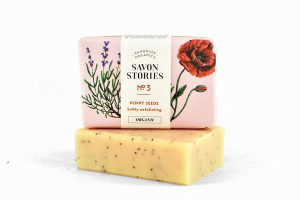 Unikonsiemensaippua Poppy Seed  Raw Bar Soap  110 g